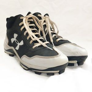 Under Armour baseball cleats, size 8